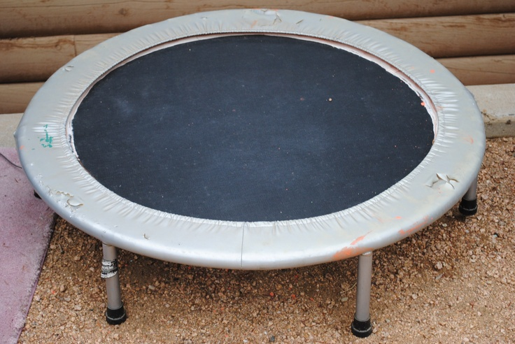 Outdoor Decor_Lounge_use this small trampoline to make a hanging swing chair...as seen on Pinterest...haha