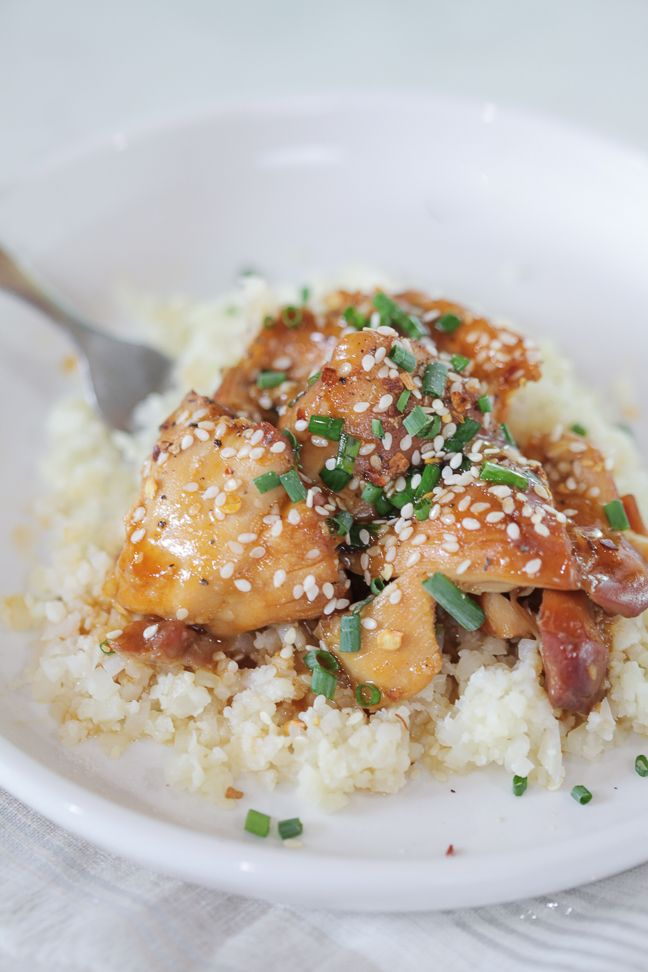 This take-out favorite Sesame-Orange Chicken recipe is made in the Instantpot for a meal on the table in under 30 minutes!