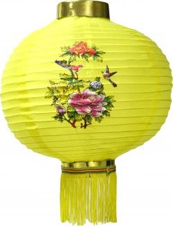 Lanterne Chinoise jaune.  Fetes-par-fetes - Vente de décorations Nouvel An Chinois.