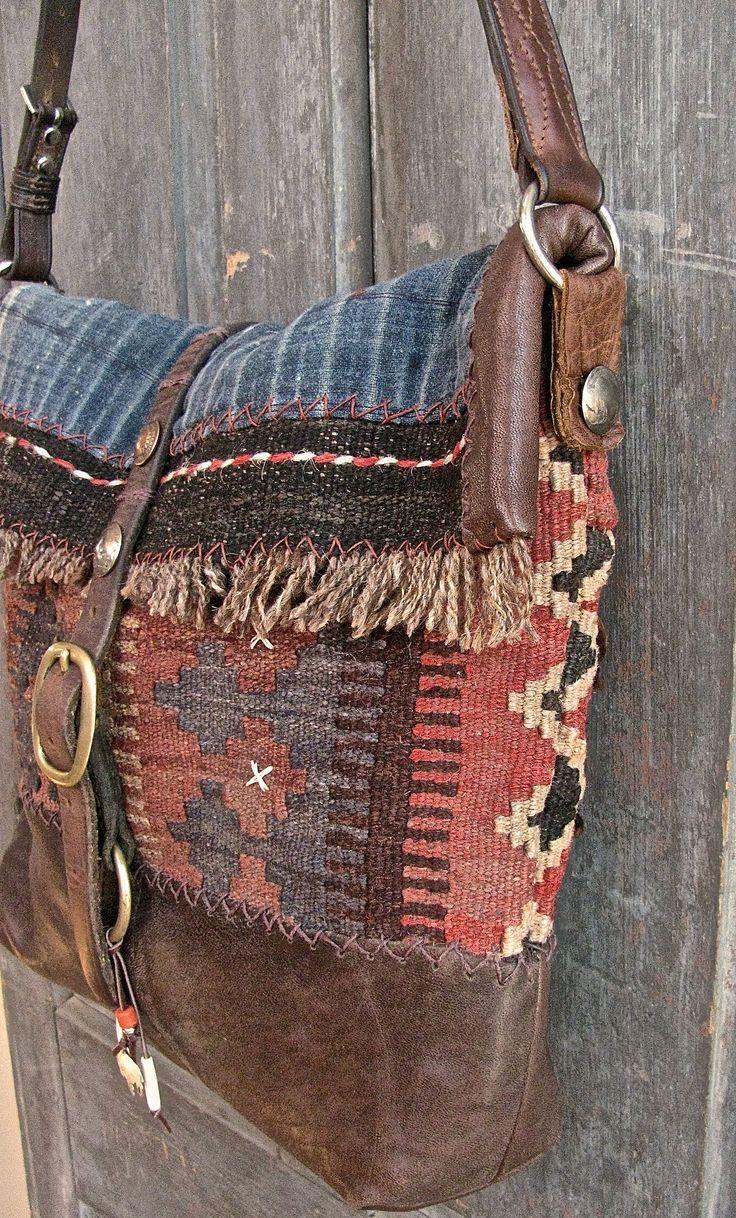 Die Buffalo Bag Umhängetasche. Vintage Kelim, Hmo…