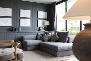 Man space Inviting, masculine living rooms that will encourage you to put your tired feet up
