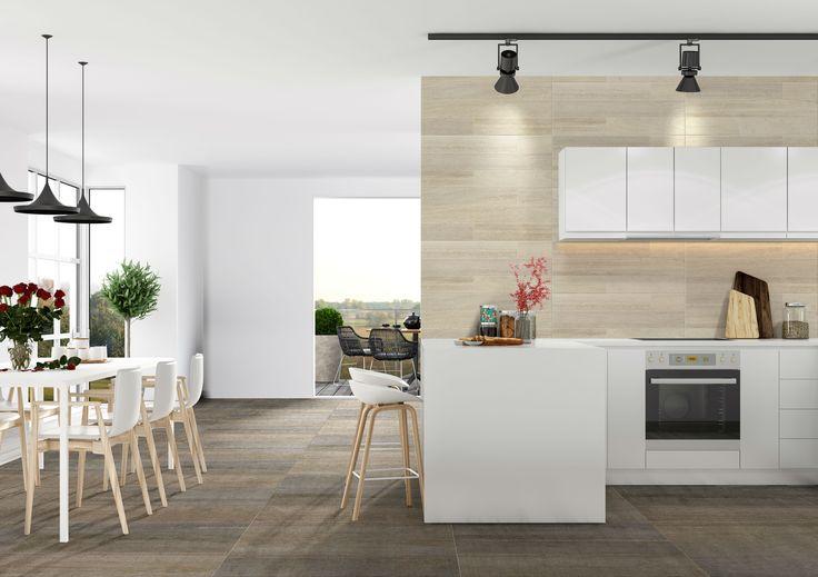 Si tu cocina es grande, utiliza un comedor auxiliar y compleméntala con decoraciones y elementos vintage. Conoce más consejos aquí
