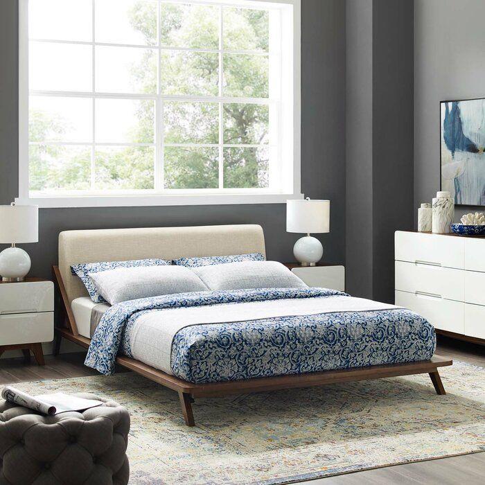 Kiana Queen Upholstered Platform Bed In 2020 Upholstered
