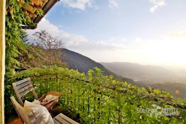 Terrace overlooking the valley of Camaiore, Tuscany.