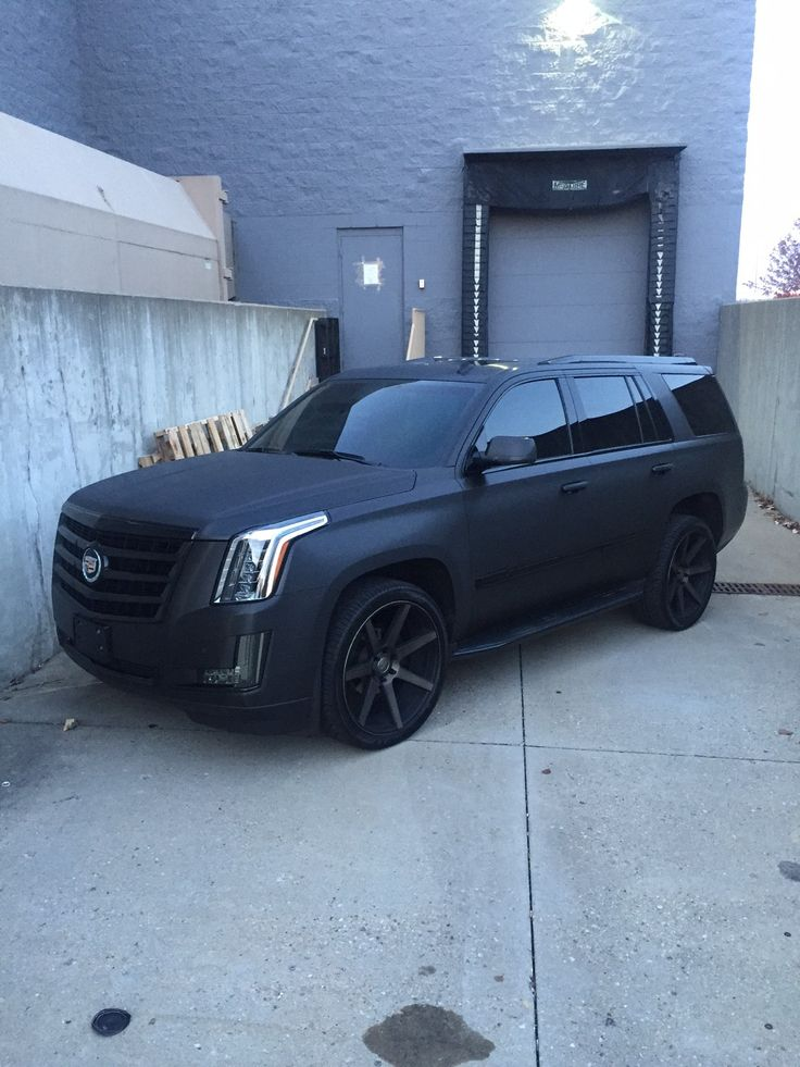 Murdered Out - Matte Black - 2016 Escalade