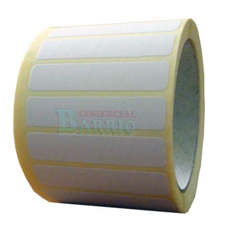 #EtiquetasAdhesivas para precios sin impresion en papel couche, de 55x12 mm. etiquetas adhesivas en rollos de 1000