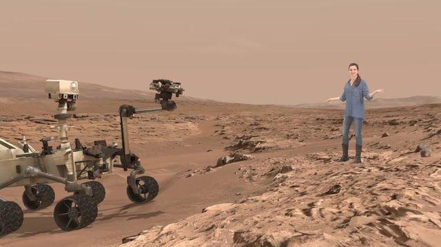 Ingenieros de la NASA avanzan en la exploración de Marte con las gafas HoloLens    La ingeniera Erisa Hines trabaja  con científicos en el centro de investigación Jet Propulsion Laboratory  de NASA. Hines se dedica a ayudar a conducir el Curiosity en Marte.                                             NASA Jet Propulsion Laboratory  Algunos de los avances científicos logrados por la NASA usando el  sistema de realidad aumentada de Microsoft estarán pronto disponibles al  alcance del público a…