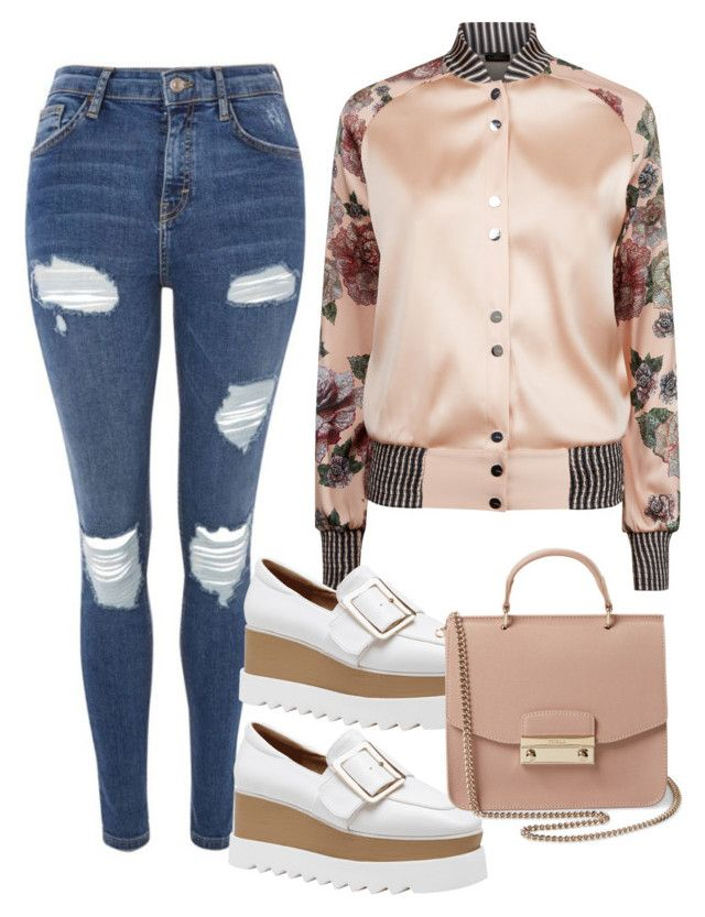 """""""styl3"""" by yatsar1 ❤ liked on Polyvore featuring La Perla, Topshop and Furla"""