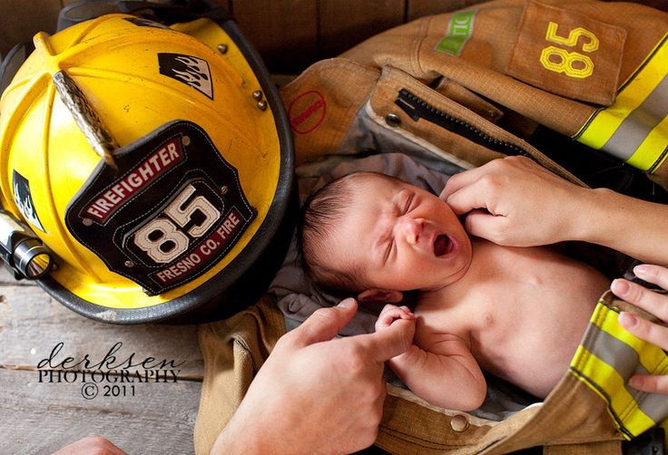 newborn and firefighter outfit