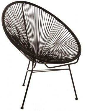 the unique style of the Acapulco chair was initially inspired by the Mayan weave technique which was traditionally used in hammocks. Now, the Acapulco chair is reintroduced and provides a quirky edge for a retro lounge chair with a lot of attitude. Our Replica Acapulco Chairs are perfect to add a splash of colour into any indoor space and can even be used outdoors.