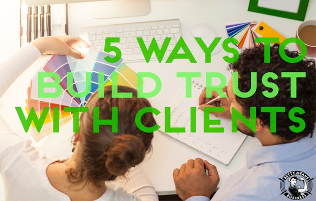 Trust.  If you're a coach, consultant or other kickass service professional it's something you MUST have with your clients.  In fact I believe the amount of trust your client feels towards you directly relates to how successful you'll be getting results for that client.