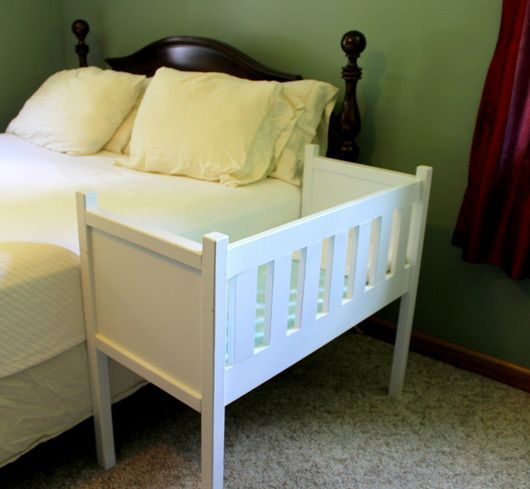 Baby DIY cosleeper crib                                                                                                                                                      More