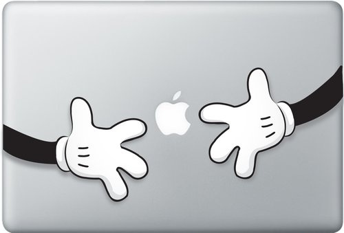 Shoply.com -MICKEY MOUSE HUGS vinyl decal sticker for macbook. Only $9.90