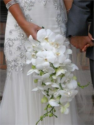 White orchid bridal bouquet - A White Hot Wedding