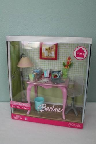 Quot Rare Quot Discontinued Barbie Desk Amp Chair Bedroom Playset