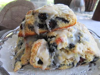Mulberry Scones - 1 1/2 C fresh or frozen mulberries