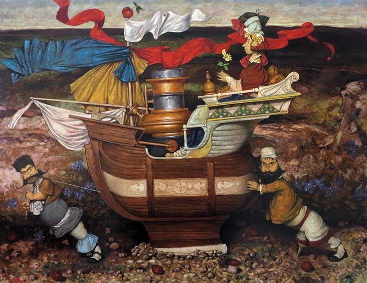Daron Mouradian Sailors/Oil on Canvas 130x170cm