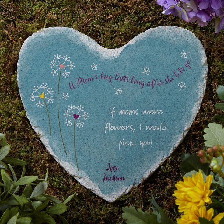 17275 a moms hug personalized heart garden stone