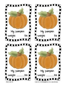 FREE!! Use these forms to record student data collection and analysis after they weigh and measure their pumpkin's height and circumference and to record what they have learned.