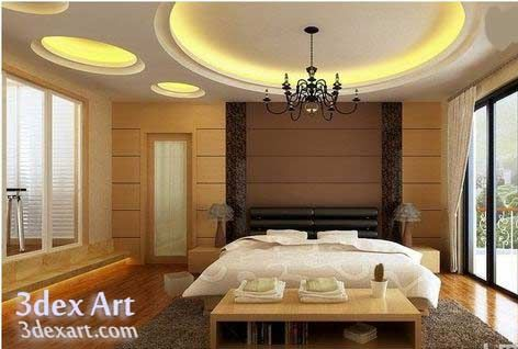 false ceiling 2018, new false ceiling designs for bedroom 2018, bedroom ceiling with lighting  New modern false ceiling designs 2018 for bedroom with LED lights and how to make stylish bedroom false ceiling design, suspended ceiling and stretch ceiling with different materials, the best false ceiling designs and ideas for bedroom 2018