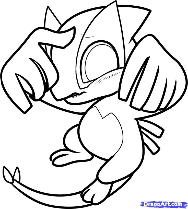 Pokemon Chibi Dragoart Coloring Pages