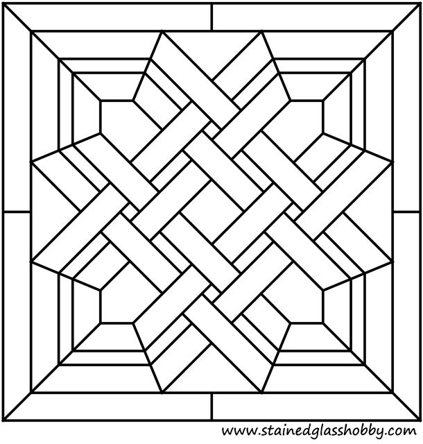 Celtic stained glass panel pattern