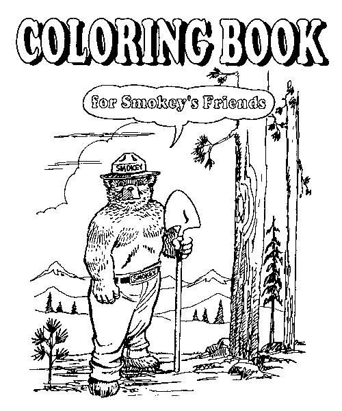 Coloring book for smokey 39 s friends u s forest service for Free smokey the bear coloring pages
