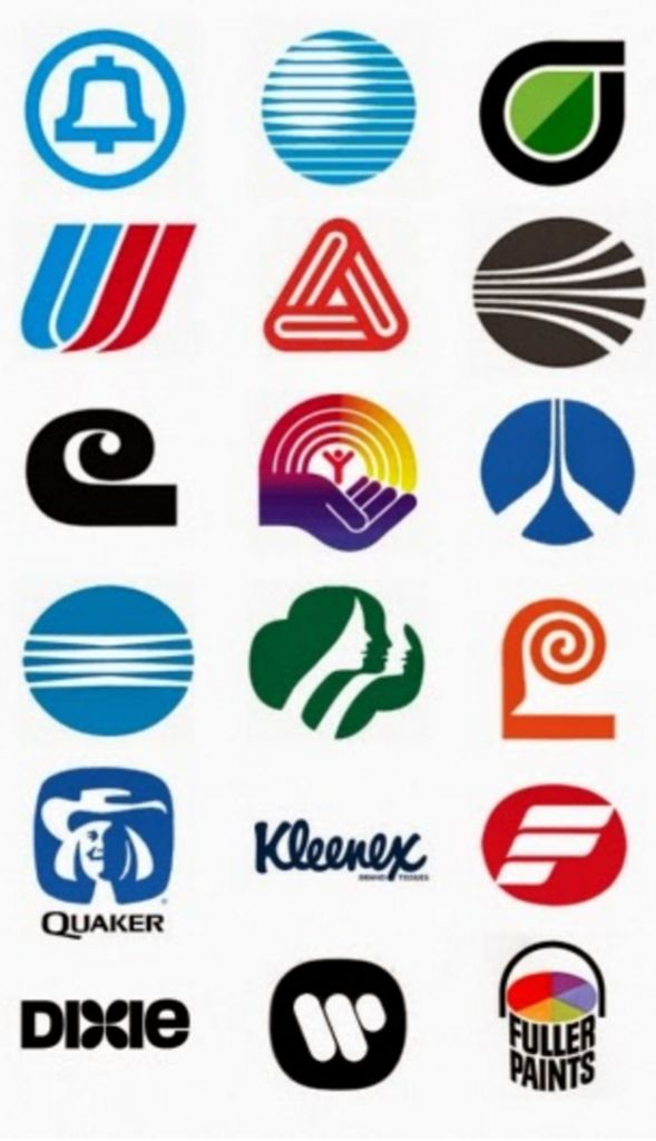 Saul Bass (1920-1996, American), Logos Graphic Design.