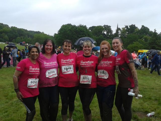 Mansfield Building Society Staff Complete Race For Life
