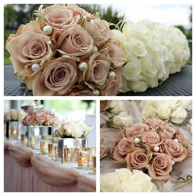 Dusky #pink wedding flowers.