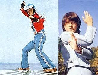 Ichiro and Mari (Kikaida 01 and Bijinda in their human form)