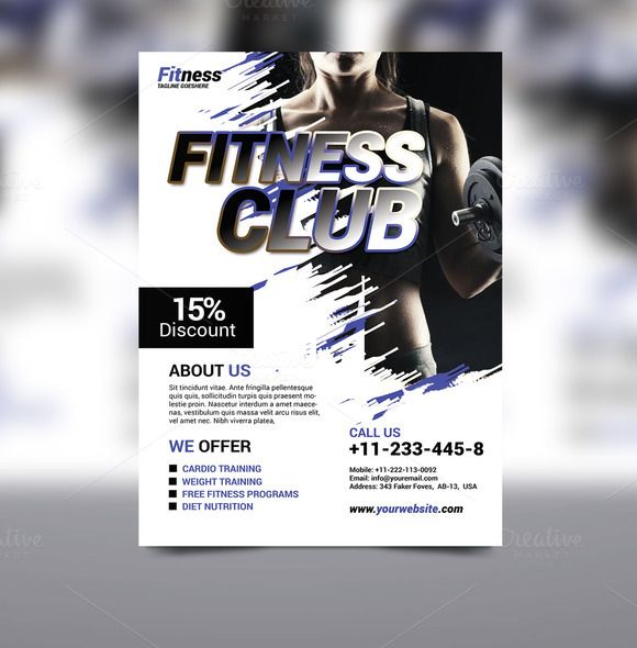Fitness Flyer by Graphicidenic on @creativework247
