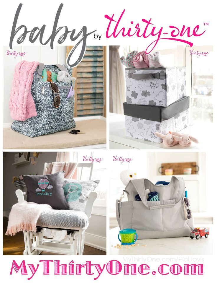 #31 BABY by Thirty-One Gifts has NEW personalization ideas, styles, prints coming April 2018 as part of their BABY COLLECTION. New Diaper Bags include Take the Day, City Park and Take Two as well as the Zip Top Organizing Utility Tote are part of this new collection. The Multi Bottle Thermal, Cargo Clip on Thermal, Cool Clip Thermal Pouch and Super Swap-It Pocket are great additions too. Find these at MyThirtyOne.com/PiaDavis. Also look for Personalized Pillows, Wall Art and Purses online.