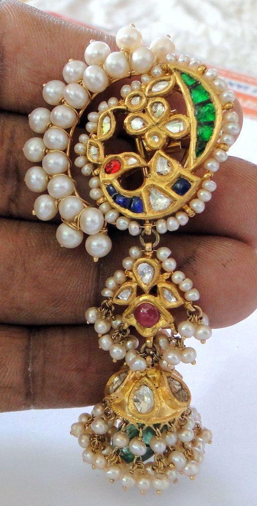 Vintage antique 22  K gold  Kundan Diamond by TRIBALEXPORT on Etsy, $4999.00