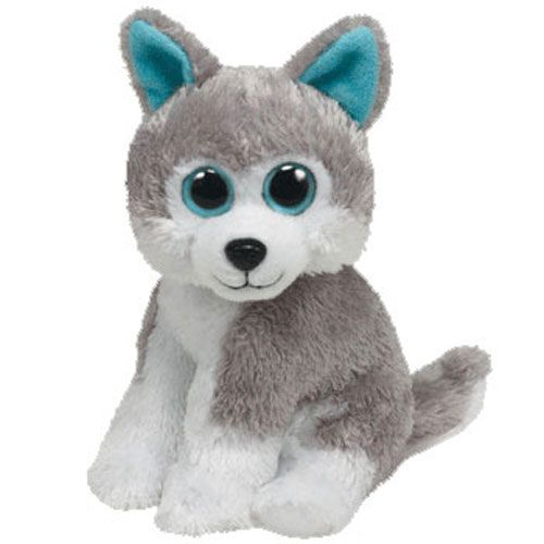 Ty Stuffed Animals Big Eyes | TY Beanie Baby - SLEDDER the Husky Dog (Big Eye Version) (6 inch)
