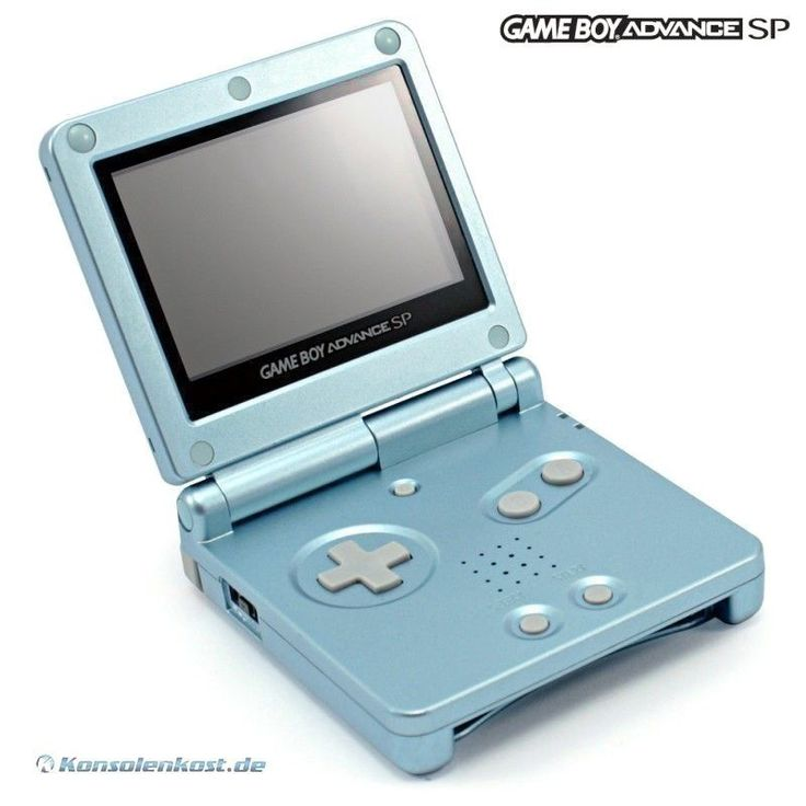 GameBoy Advance - console GBA SP #Arctic Blue / blue (incl. power supply) #Nintendo