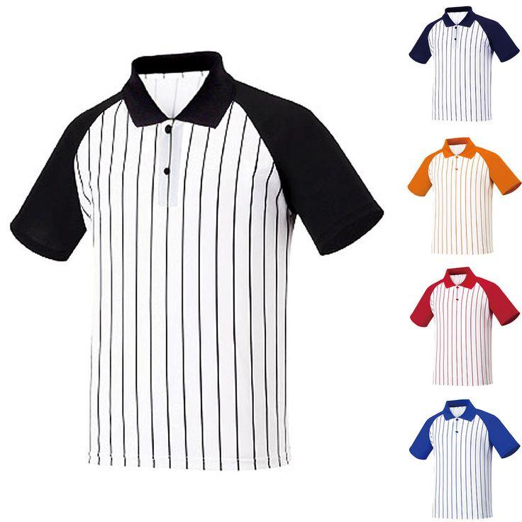 Mens Baseball Polo Collar Pique PK Striped Raglan T-Shirt Varsity Uniform Jersey #hellobincom #StripedRaglanPoloTShirt