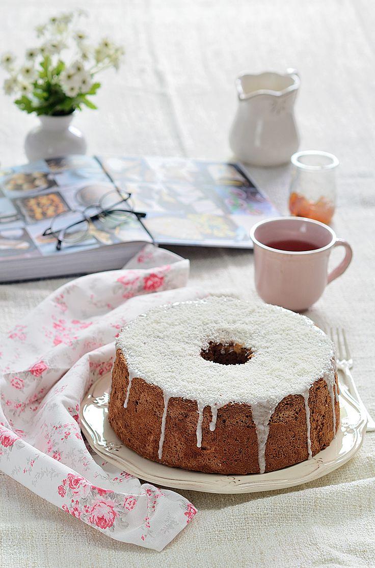 Qu cosa tan dulce angel food cake de chocolate con for Dulce coffee studio