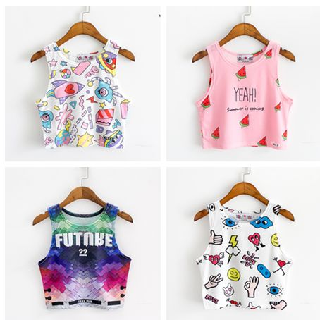 """Color:white rockets.pink watermelon.blue galaxy.white eyes. Size:free size. Length:42cm/16.38"""". Bust:72cm/28.08"""". Shoulder:24cm/9.36"""". Fabric material:cotton. Tips: *Please double check above size and"""