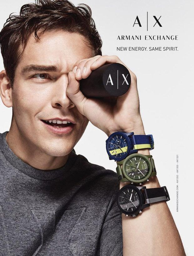 Alexandre Cunha is the Face of Armani Exchange Watches