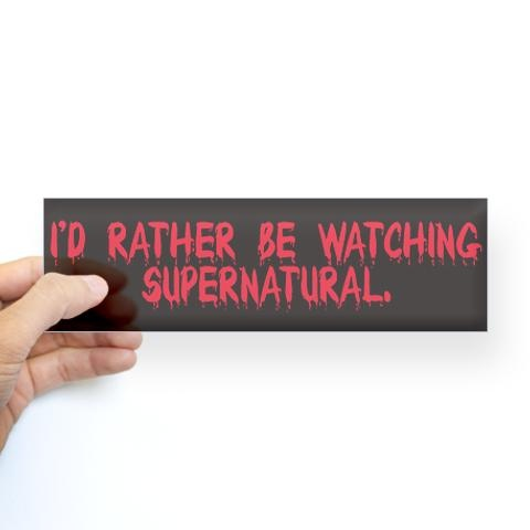 BUMPER STICKERS : Support Supernatural Official Store...click through :)