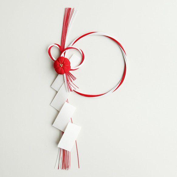 紅白水引の正月飾り|しめ縄・しめ飾り|biolleta|ハンドメイド通販・販売のCreema