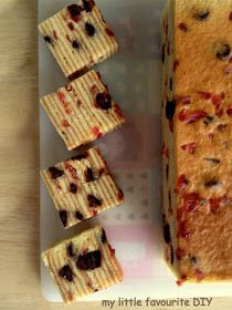 Roselle and Chocolate Chip Layer Cake