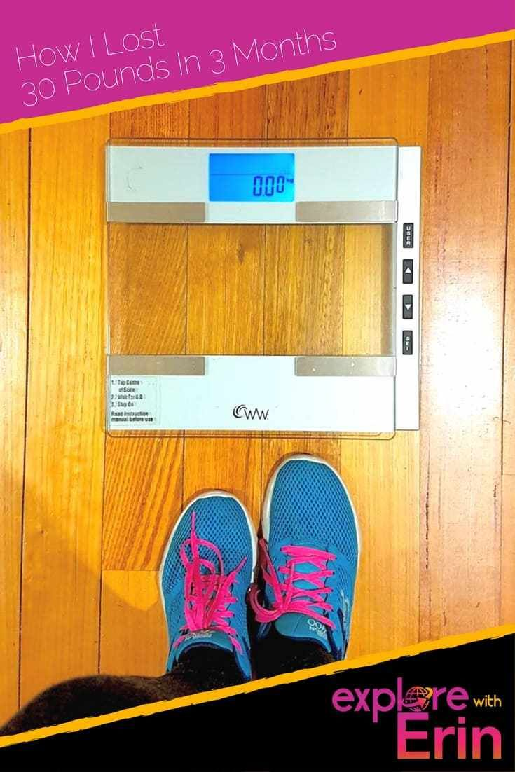 How I lost 30 pounds in 3 months
