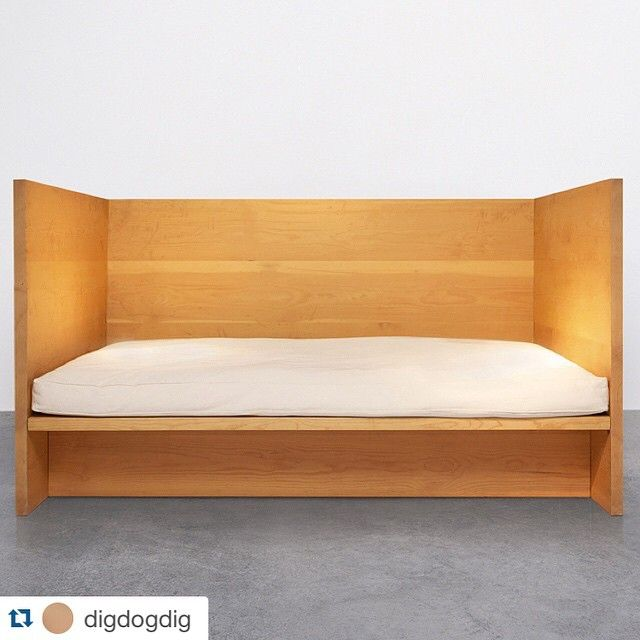 #regram @digdogdig of Donald Judd's Bed #32  Happy Birthday #DonaldJudd / thank you for the endless inspiration pushing boundaries  creating minimalist at its finest / I've always dreamt of sleeping here  / Daybed 1979 #digdogdiginspiration by juddfurniture