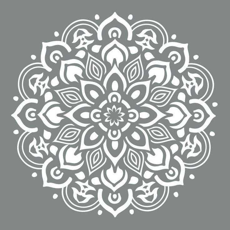 25 Unique Mandala Stencils Ideas On Pinterest
