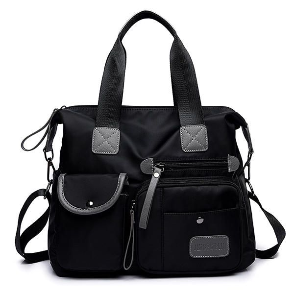 Women Nylon Water-proof Large Capacity Multi-pocket Multi Function Handbag Cro - US$32.99