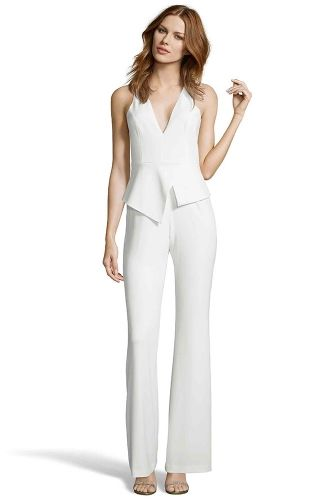 MCMURRAY LIGHT IVORY JUMPSUIT from Jay Godfrey