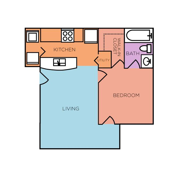 The brixworth is our 600 sq ft 1 bedroom 1 bathroom - 1 bedroom apartments everything included ...