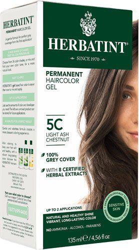 herbatint permanent haircolor gel light ash chestnut 5c 135 ml 2pc - Coloration Herbatint
